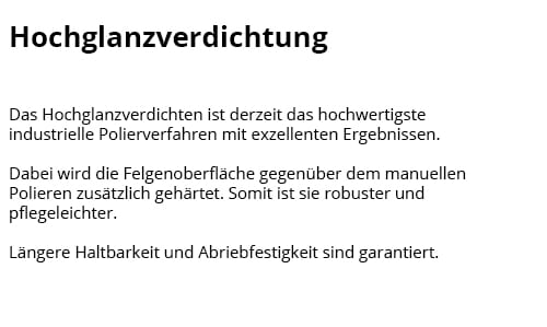 Hochglanzverdichtung in  Hagen (Bremischen)