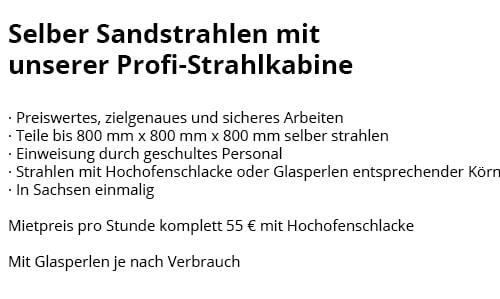 Sandstrahlen in 04600 Altenburg, Gerstenberg, Göhren, Rositz, Monstab, Fockendorf, Treben oder Nobitz, Windischleuba, Lödla